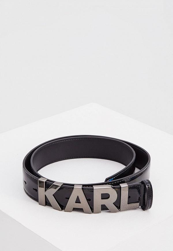 женский ремень karl lagerfeld, черный