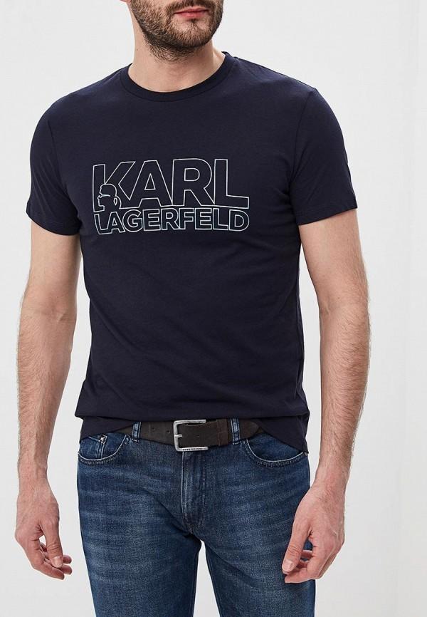 цена Футболка Karl Lagerfeld Karl Lagerfeld KA025EMEHWN5 онлайн в 2017 году