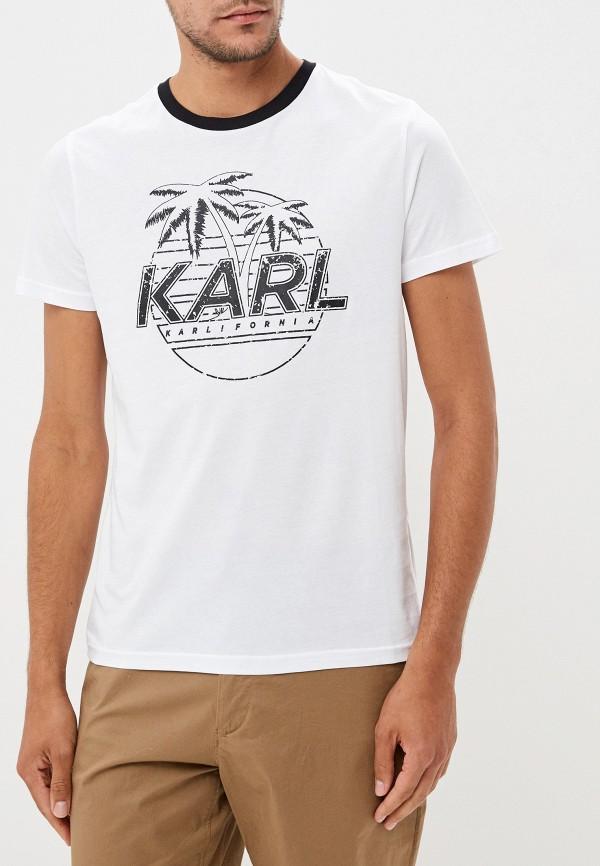 цена Футболка Karl Lagerfeld Karl Lagerfeld KA025EMFHNL8 онлайн в 2017 году