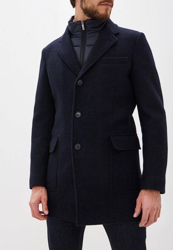 мужское пальто karl lagerfeld, синее