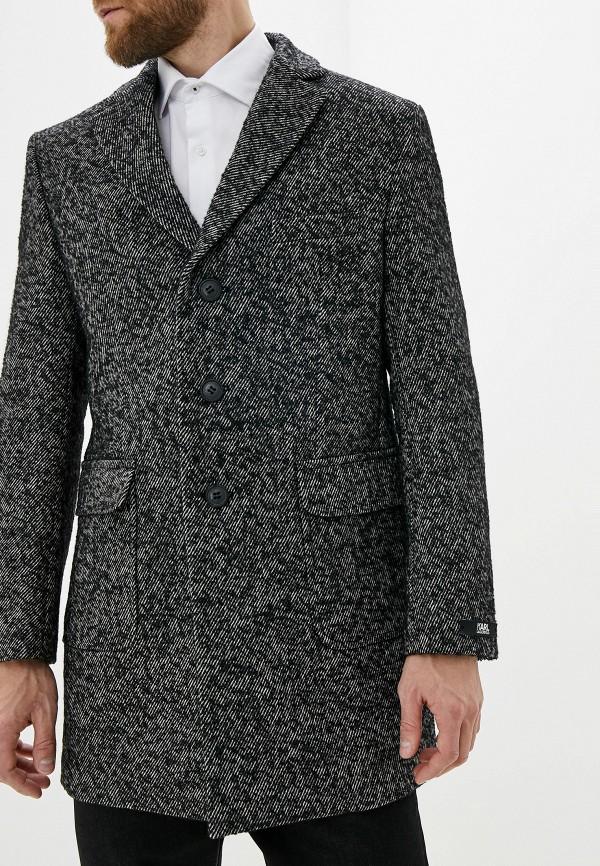 мужское пальто karl lagerfeld, серое