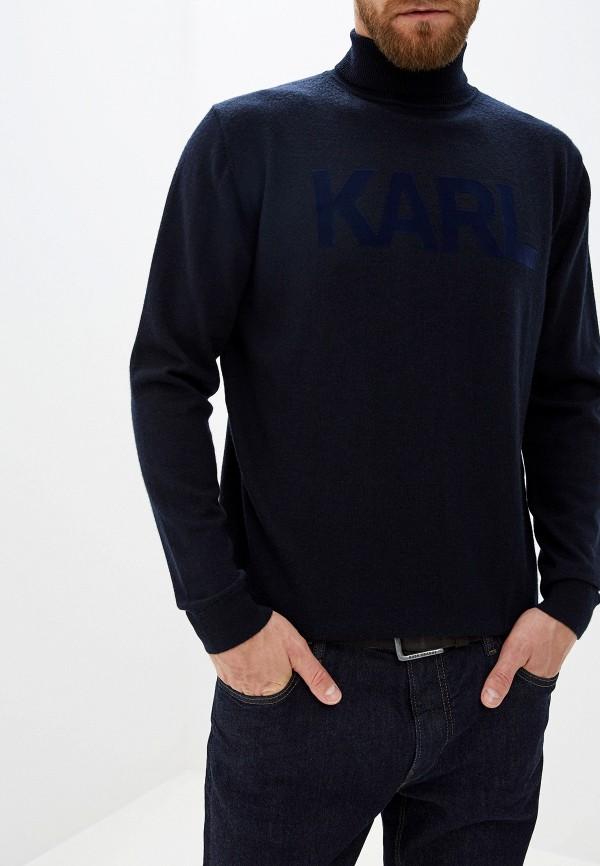 мужская водолазка karl lagerfeld, синяя