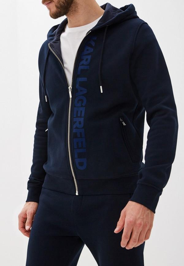 мужская толстовка karl lagerfeld, синяя