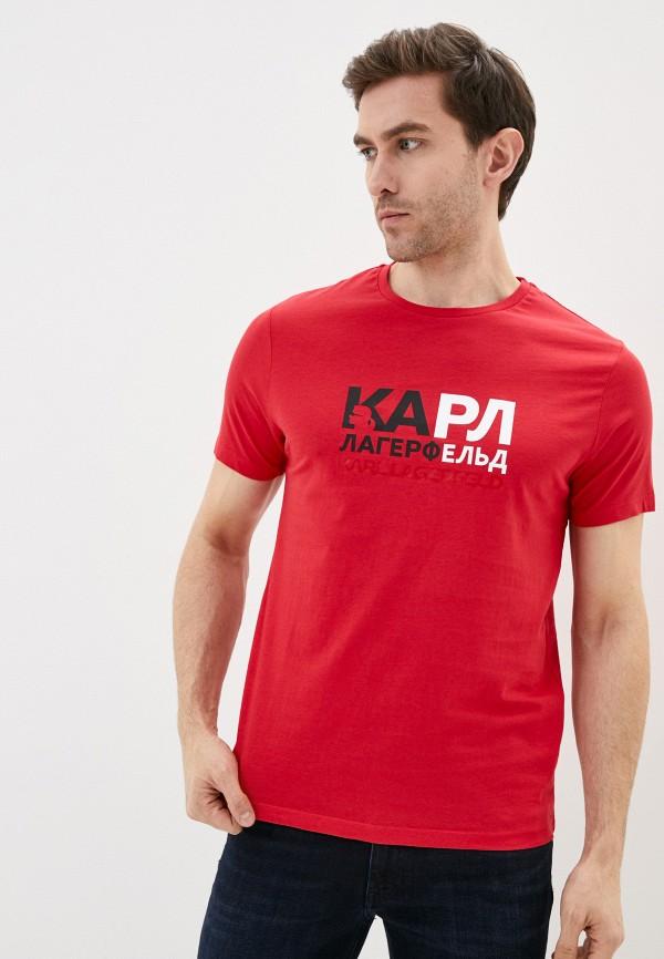 мужская футболка karl lagerfeld, красная