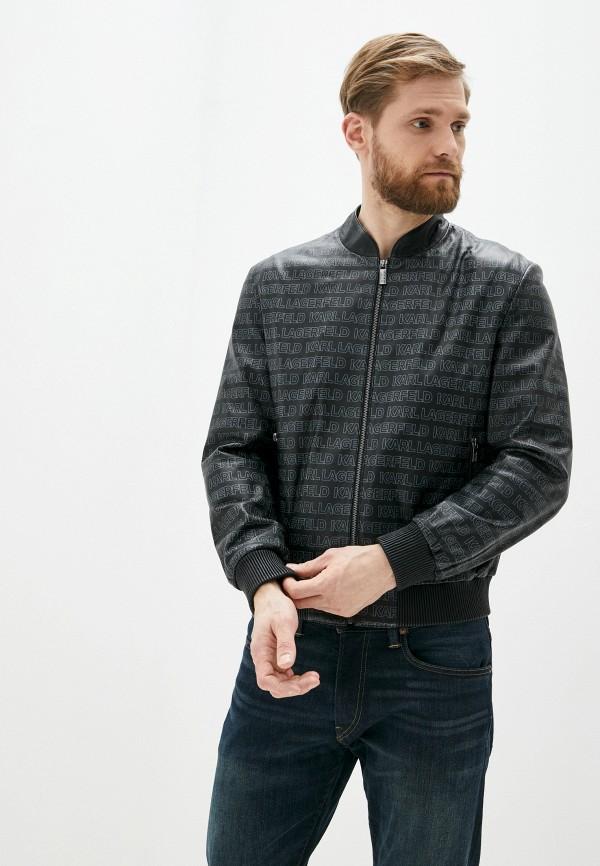 мужская куртка karl lagerfeld, черная