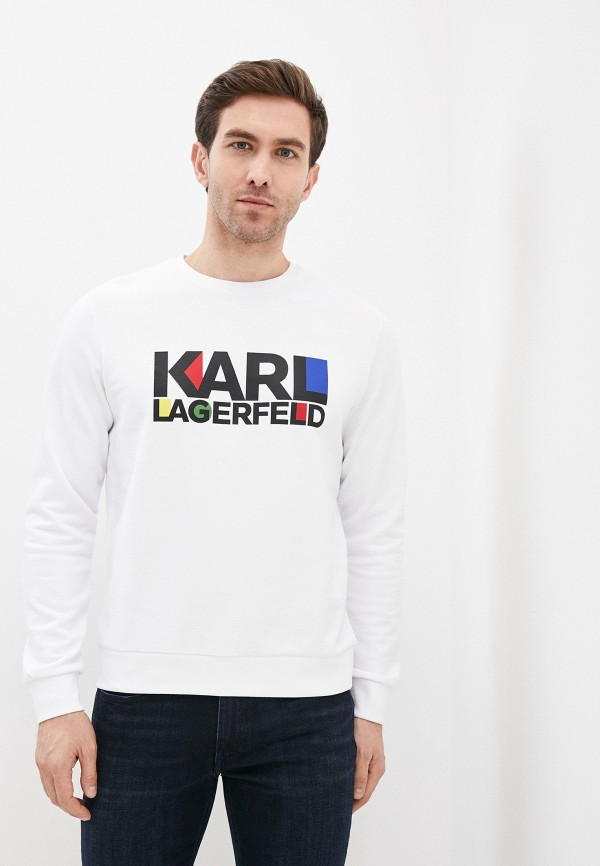 мужской свитшот karl lagerfeld, белый