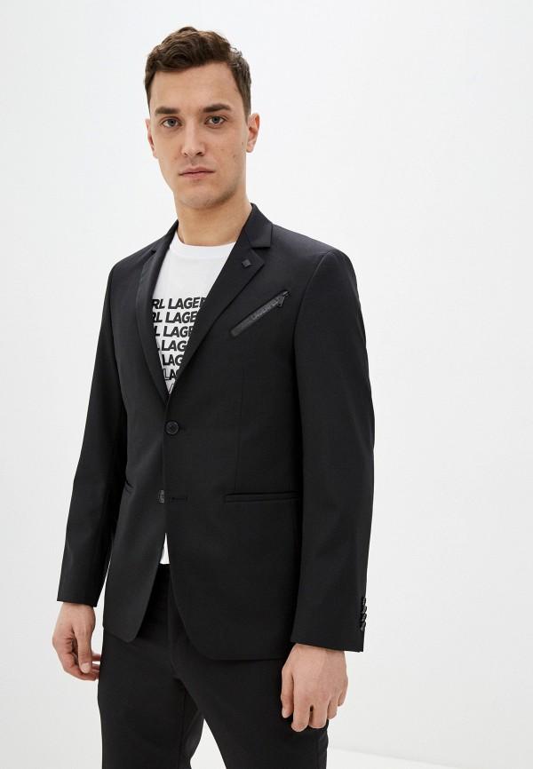 мужской пиджак karl lagerfeld, черный