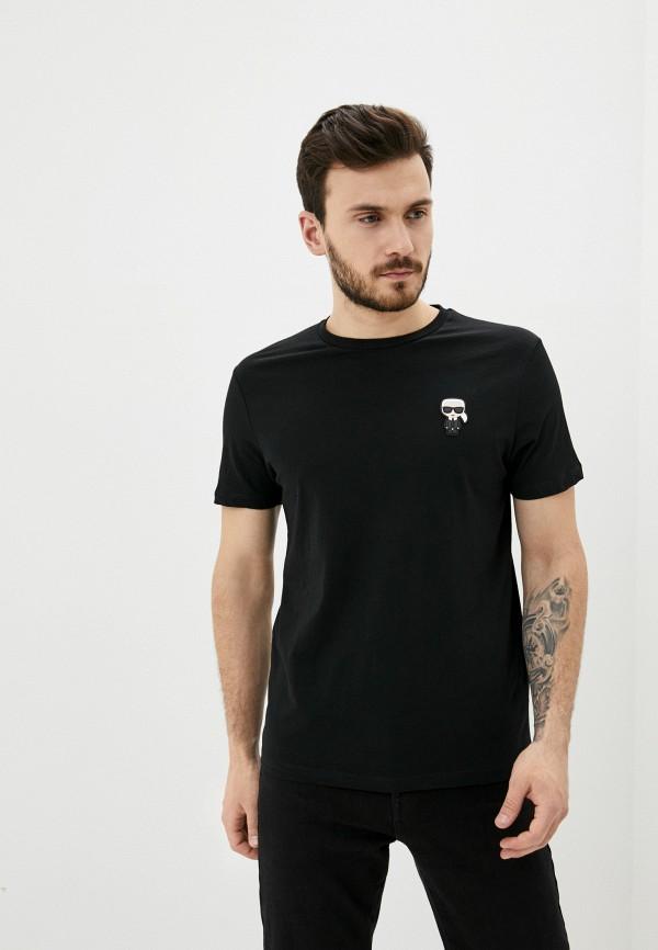 мужская футболка karl lagerfeld, черная
