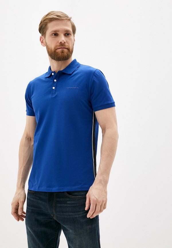 мужское поло karl lagerfeld, синее