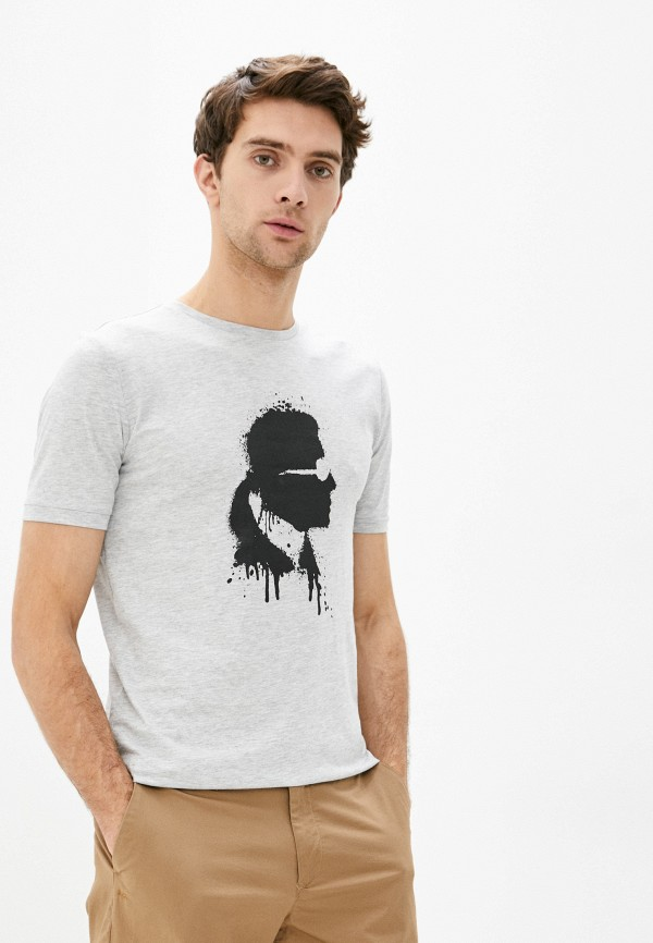 мужская футболка karl lagerfeld, серая