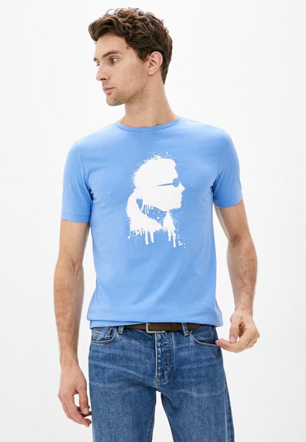 мужская футболка karl lagerfeld, голубая