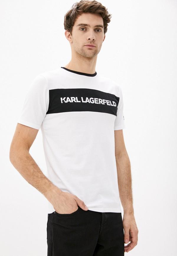 мужская футболка karl lagerfeld, бирюзовая