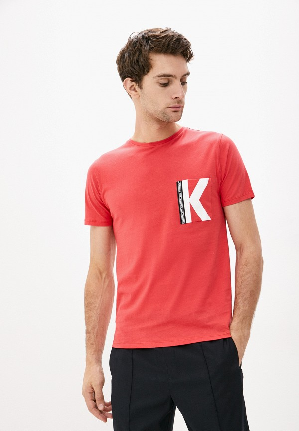 мужская футболка karl lagerfeld, синяя