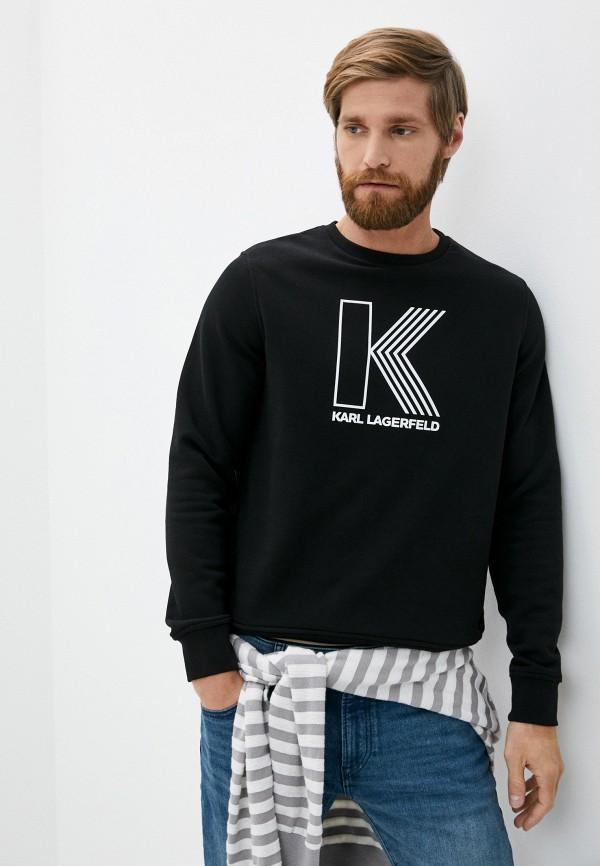 мужской свитшот karl lagerfeld, черный
