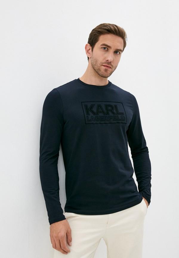 мужской лонгслив karl lagerfeld, синий