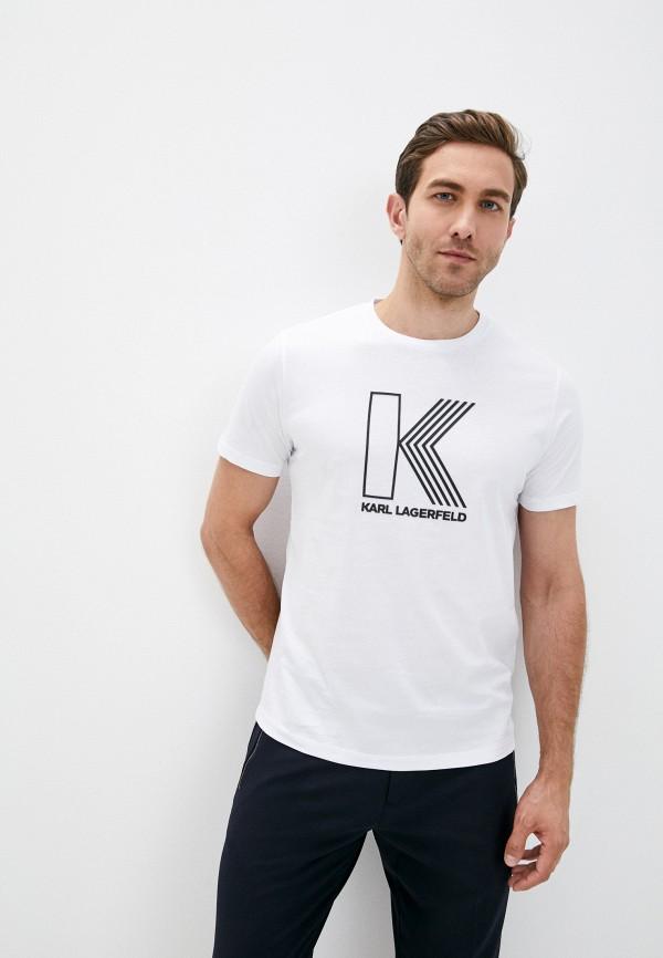 мужская футболка karl lagerfeld, белая
