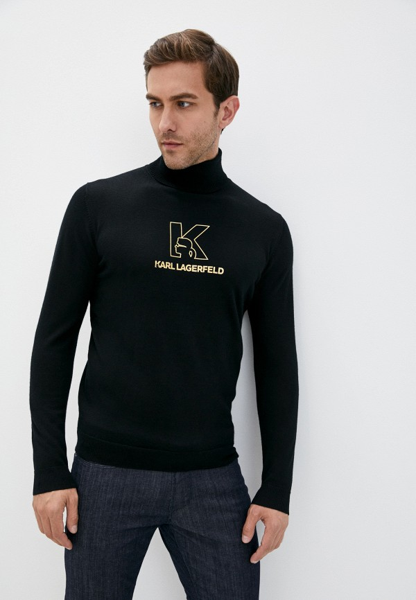 мужская водолазка karl lagerfeld, черная