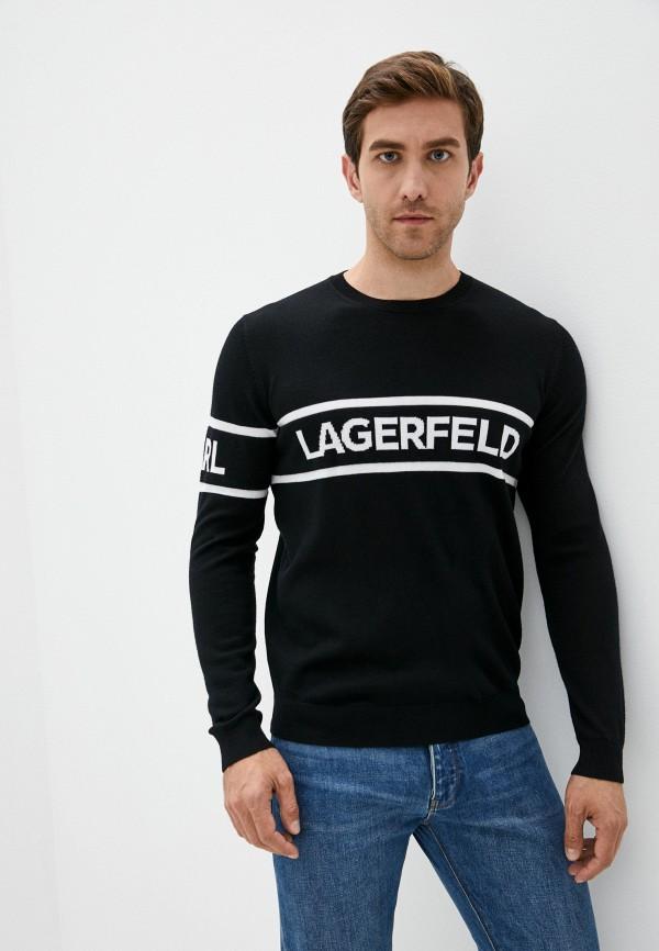 мужской джемпер karl lagerfeld, черный