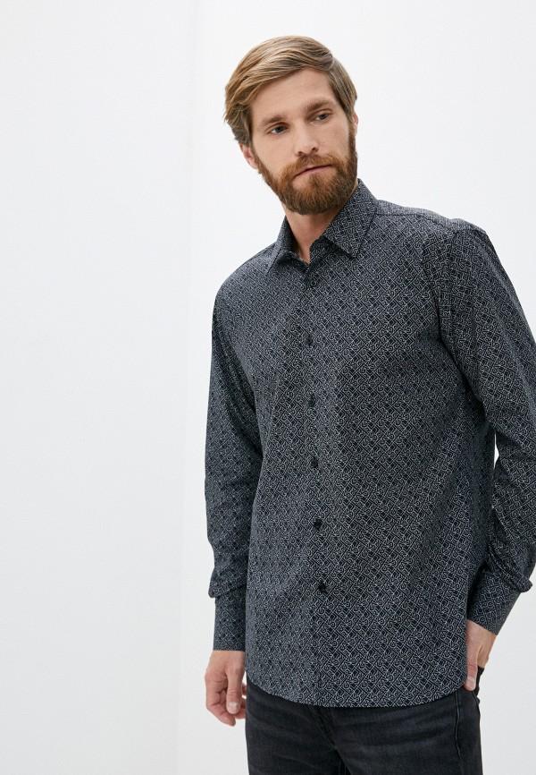 мужская рубашка с длинным рукавом karl lagerfeld, черная