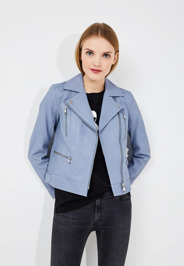 Куртка кожаная Karl Lagerfeld Karl Lagerfeld KA025EWAUOZ8 lagerfeld lagerfeld куртка 121821