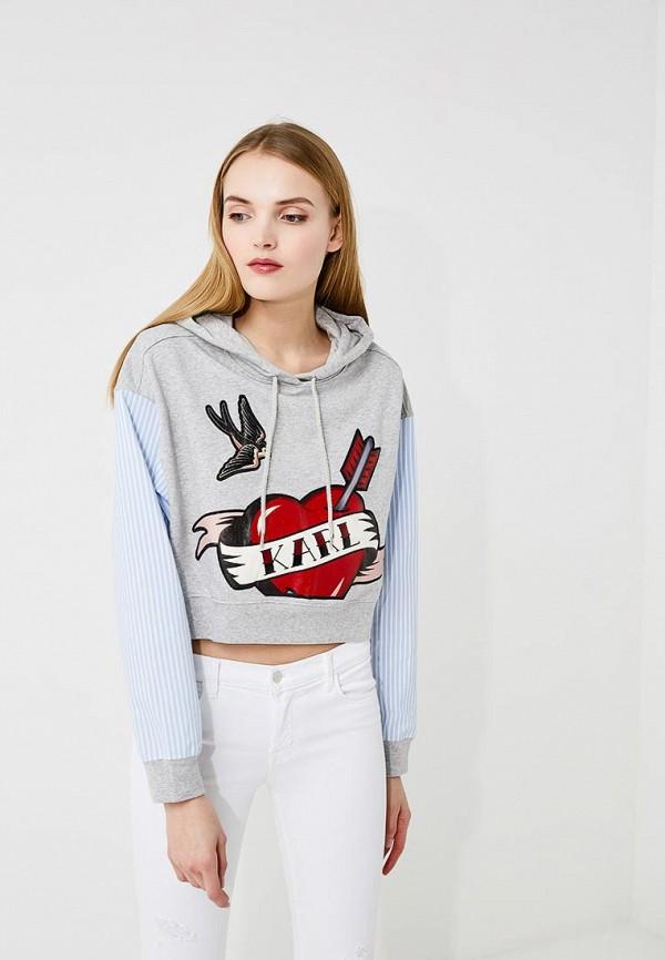 Купить Худи Karl Lagerfeld серого цвета