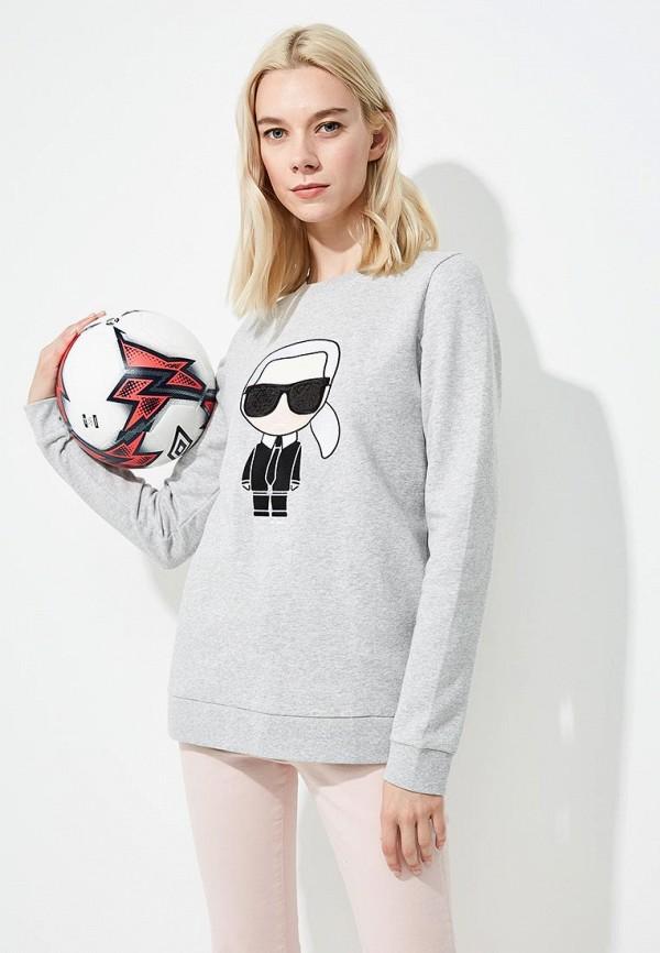 Свитшот Karl Lagerfeld Karl Lagerfeld KA025EWBRNV6 цены онлайн