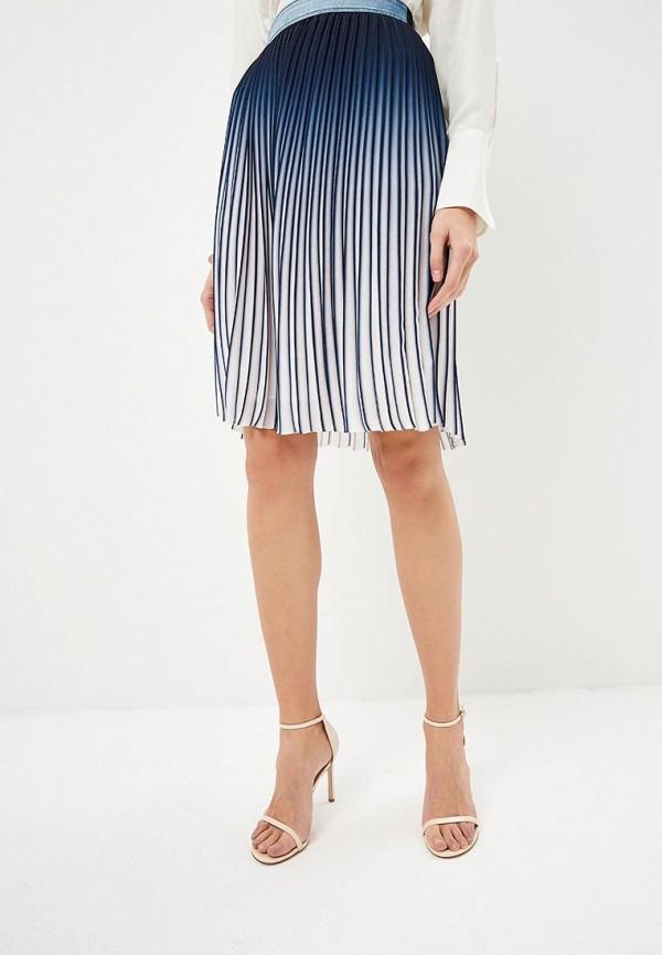 женская юбка karl lagerfeld, синяя
