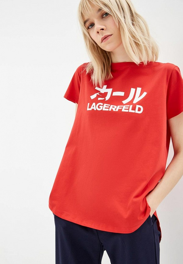 Фото - Футболка Karl Lagerfeld Karl Lagerfeld KA025EWDLCE6 футболка karl lagerfeld karl lagerfeld ka025ewbrnw8