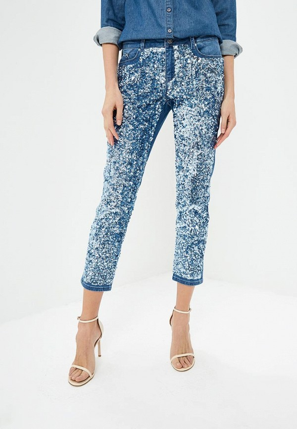 женские джинсы karl lagerfeld, синие