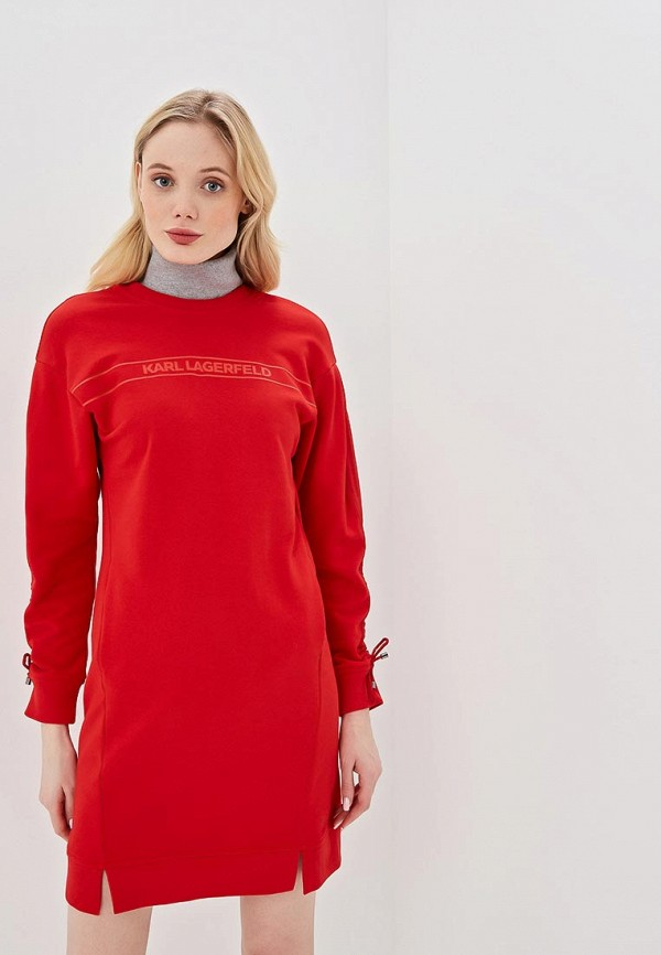 женское платье karl lagerfeld, красное