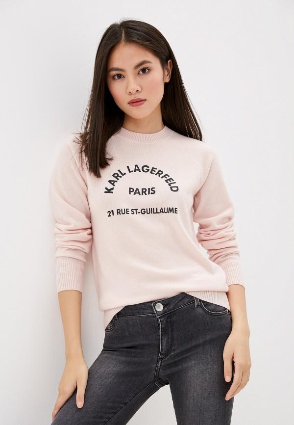 женский джемпер karl lagerfeld, розовый