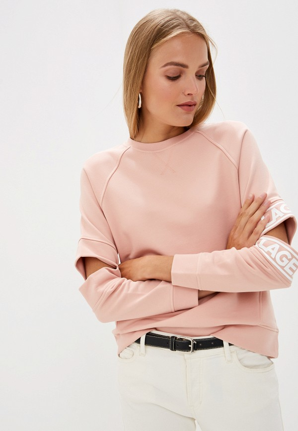 женский свитшот karl lagerfeld, розовый