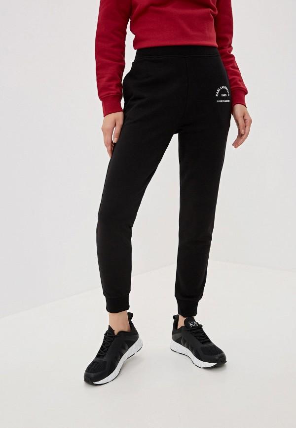 женские спортивные спортивные брюки karl lagerfeld, черные