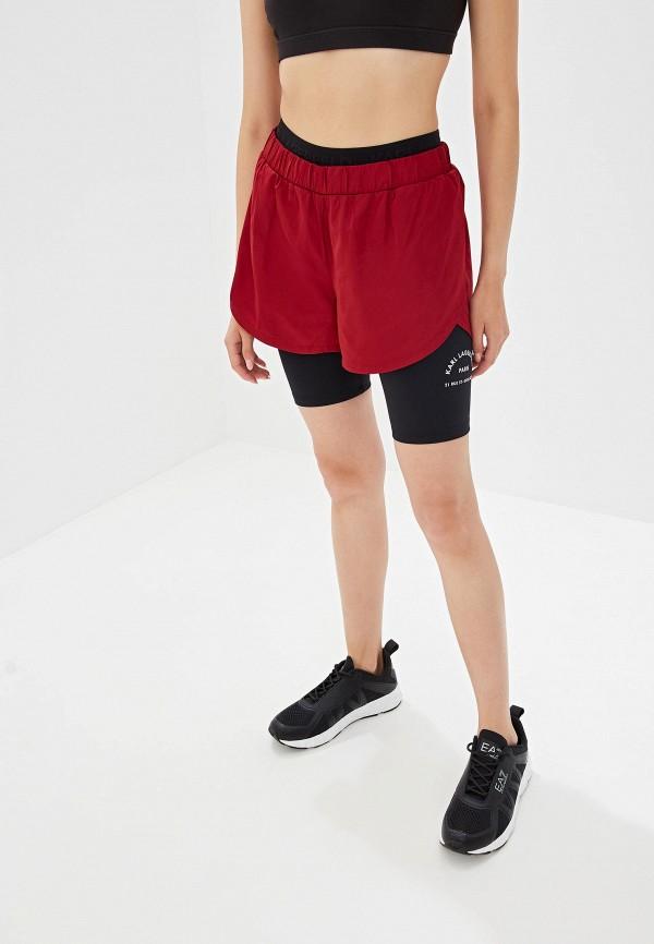Фото - Шорты спортивные Karl Lagerfeld бордового цвета