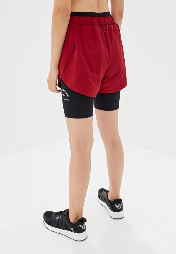 Фото 3 - Шорты спортивные Karl Lagerfeld бордового цвета