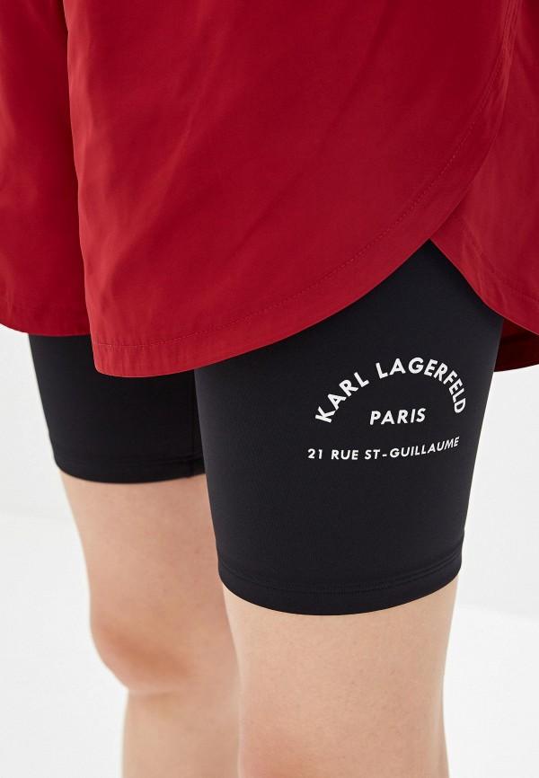 Фото 4 - Шорты спортивные Karl Lagerfeld бордового цвета