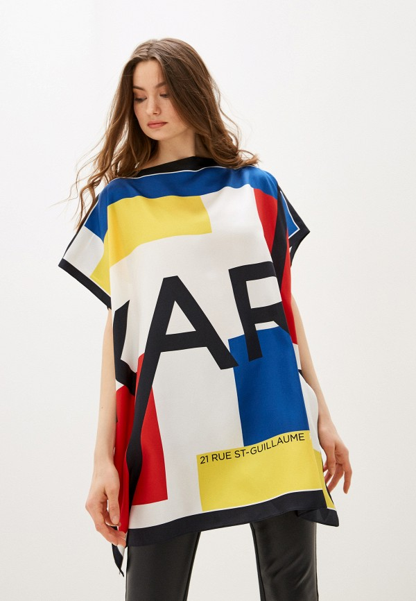 женская блузка karl lagerfeld, разноцветная