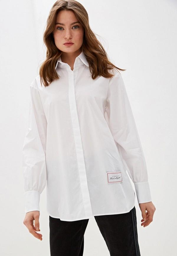 женская рубашка с длинным рукавом karl lagerfeld, белая