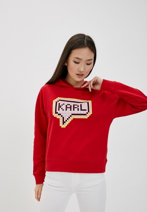 женские худи karl lagerfeld, красные