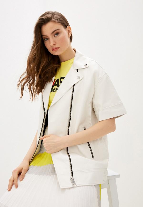 женская куртка karl lagerfeld, белая