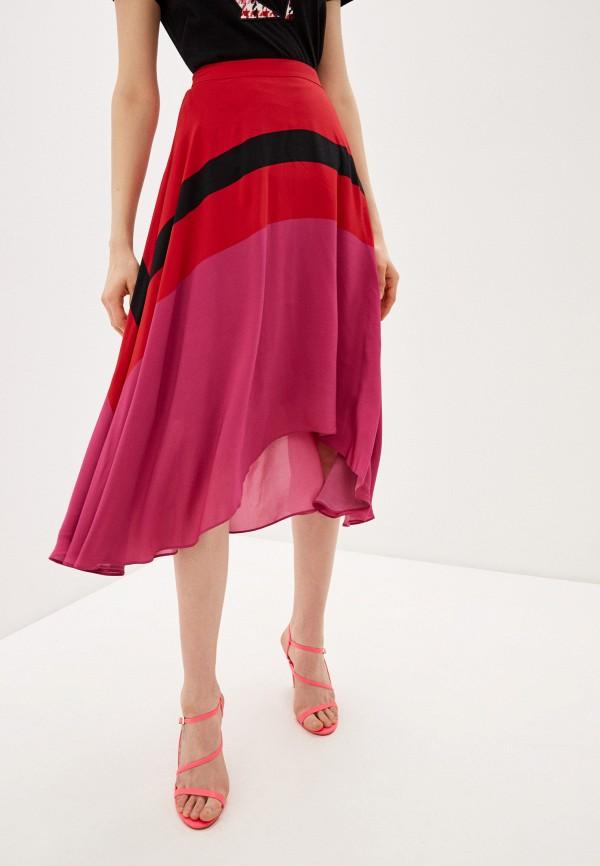 женская юбка karl lagerfeld, розовая