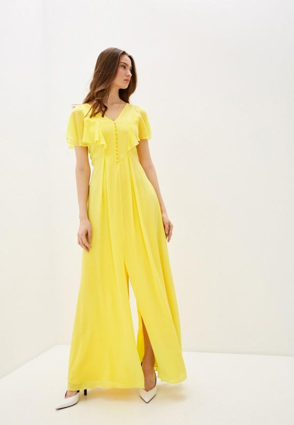 женское повседневные платье karl lagerfeld, желтое
