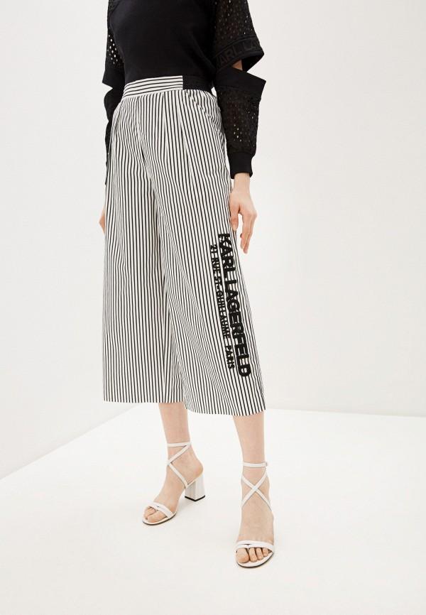 женские повседневные брюки karl lagerfeld, белые
