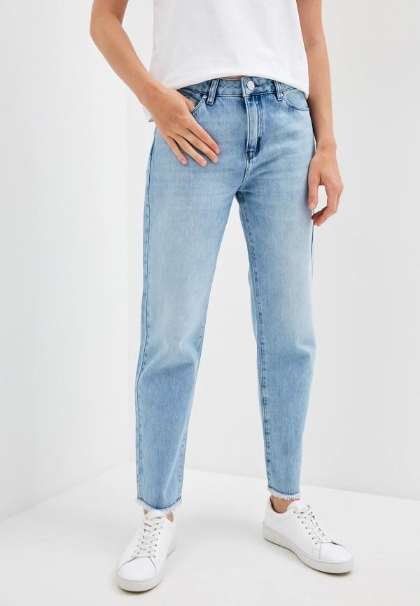 женские прямые джинсы karl lagerfeld, голубые