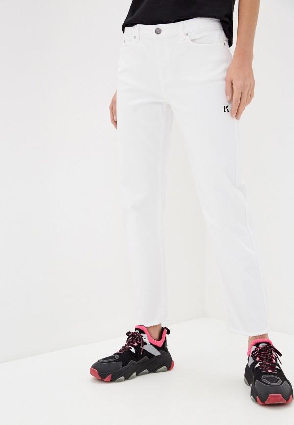 женские джинсы бойфренд karl lagerfeld, белые