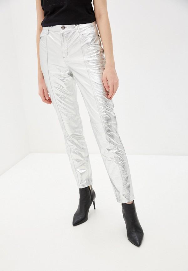 женские брюки karl lagerfeld, серебряные