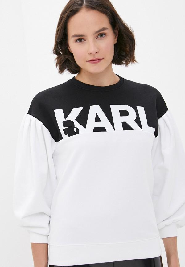 женский свитшот karl lagerfeld, разноцветный