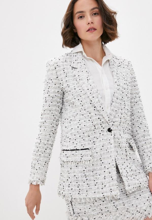 женский пиджак karl lagerfeld, бежевый