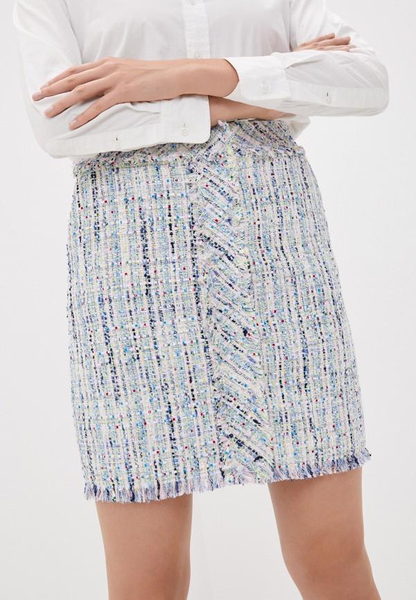 женская прямые юбка karl lagerfeld, разноцветная