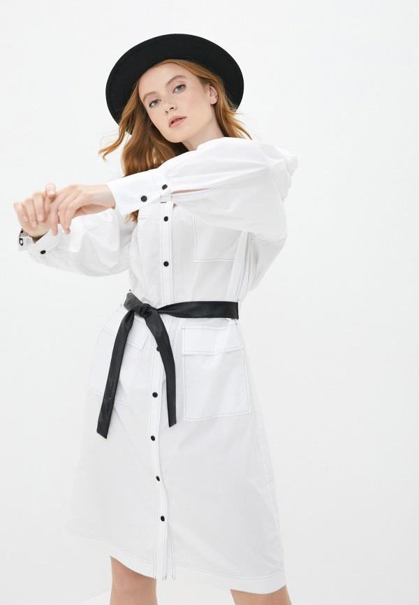 женское повседневные платье karl lagerfeld, белое